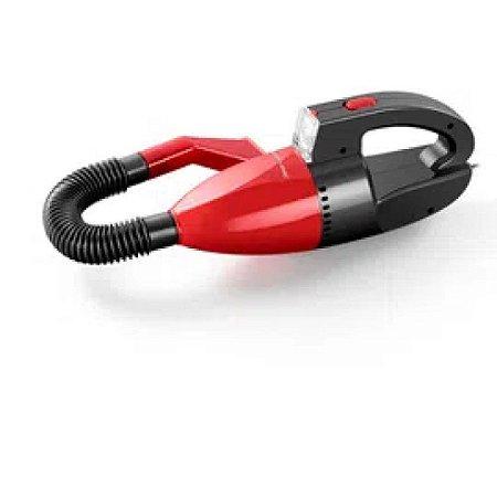 Aspirador de Pó Automotivo Multilaser 12 V 60 W Função Solido/Liquido Com Mangueira Vermelho - AU607