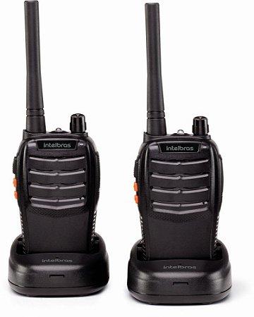 Rádio Comunicador walk talk de longo alcance Intelbras RC 3002 20 km  + acessórios Par de rádios