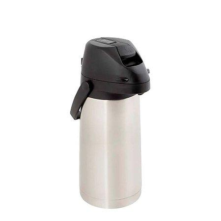 Garrafa Térmica Airpot Inox Com alavanca 1,9 Litros Mor Quente e Fria