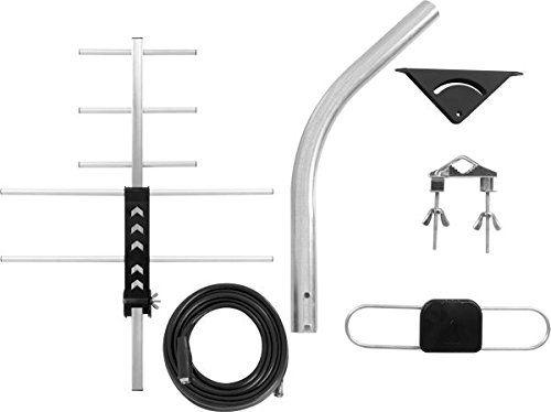 Antena Externa de TV HDTV/UHF AE 5010 Intelbras Sinal Digital Kit completo alto poder de captação.