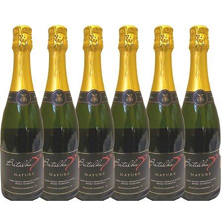 Espumante Nature Nacional Batalha Champenoise 750ml 100% Chardonnay Barris de Carvalho Caixa 6 unidades
