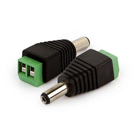 Conector Plug P4 Macho Com Borne Intelbras