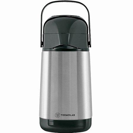 Garrafa Térmica Inox Lúmina Termolar 500 ml Bomba de Pressão Água Café