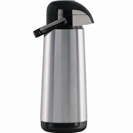 Garrafa Térmica Inox Termolar 1L Bomba de Pressão Água Café