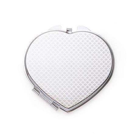Espelho Metal Duplo Coração