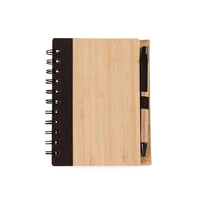 Bloco de Anotações Bambu com Caneta