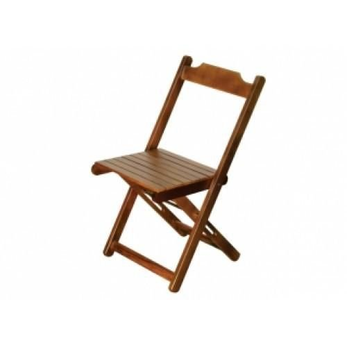 Cadeira Dobravel de Madeira Natural - Madesil