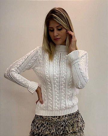 Blusa de tricot com manguinha flare