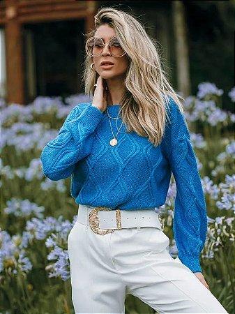 Blusa de tricot manga longa