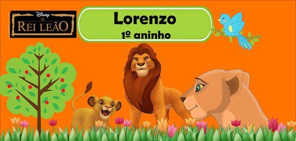 Rótulo adesivo do Rei Leão 10 unidades