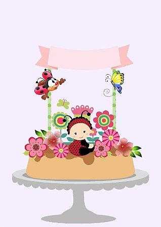 Topo de bolo primavera