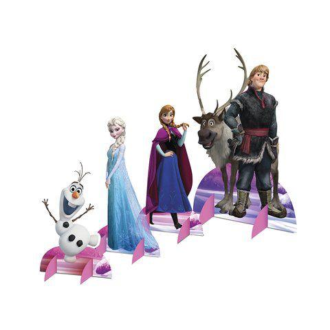 Topper de mesa em Scrapbook   com 4 unidades Frozen ( fazemos qualquer tema)