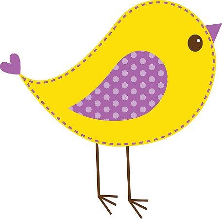 Aplique de passarinho