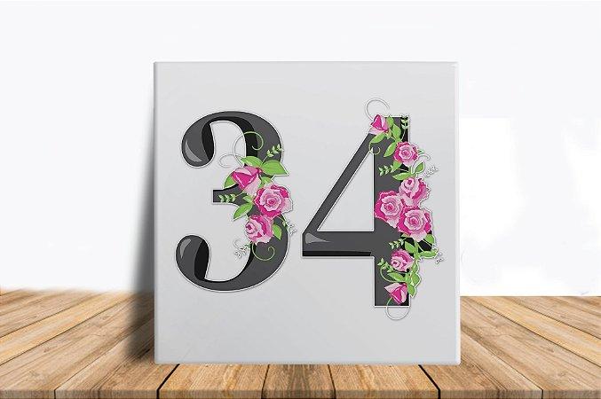 Azulejo Personalizado Numeral para sua Casa ou Apartamento