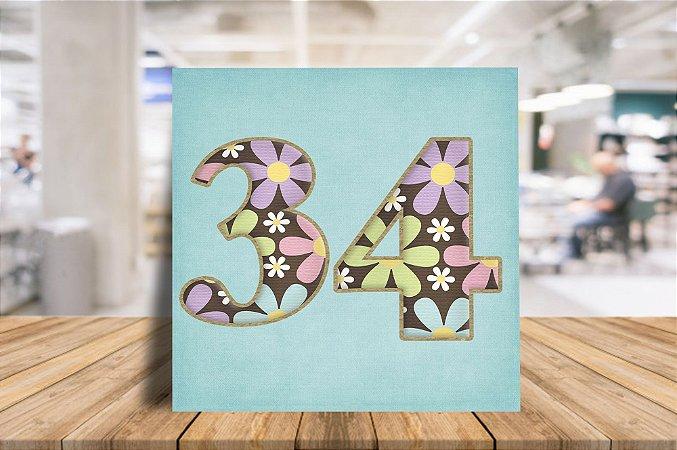 Azulejo Personalizado floral para porta