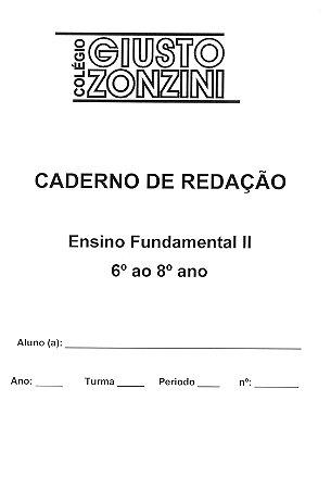 Caderno de Redação (6º ao 8º ano Fund II)