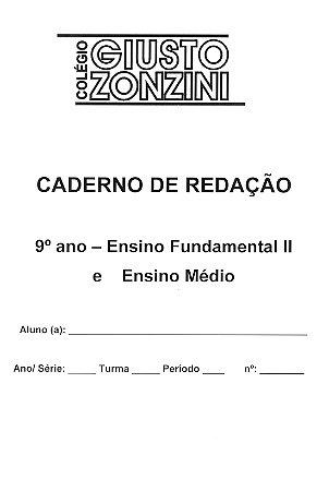 Caderno de Redação (9º ano Fund II e Ensino Médio)