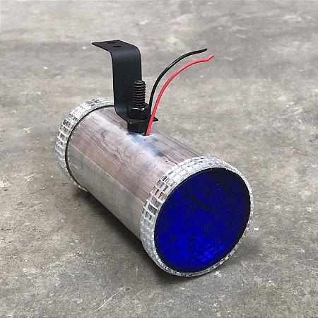 Canhão Prata de Led Azul - Corujinha Pequena