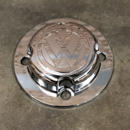 Sobre Tampa do Cubo Dianteiro Volkswagen Cromada