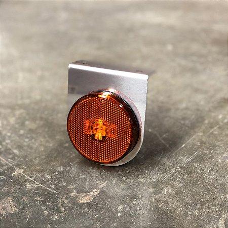 Lanterna Lateral com Suporte Inox - LED Bivolt Ø65mm