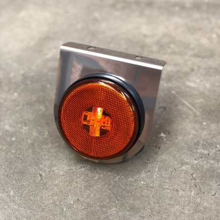 Lanterna Lateral com Suporte Inox - LED Bivolt Ø85mm
