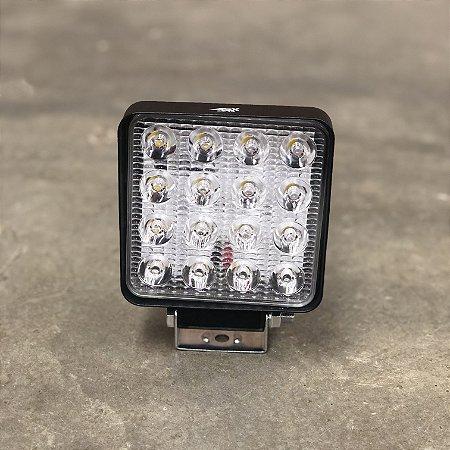 Farol de Milha em LED 48w Quadrado Bivolt