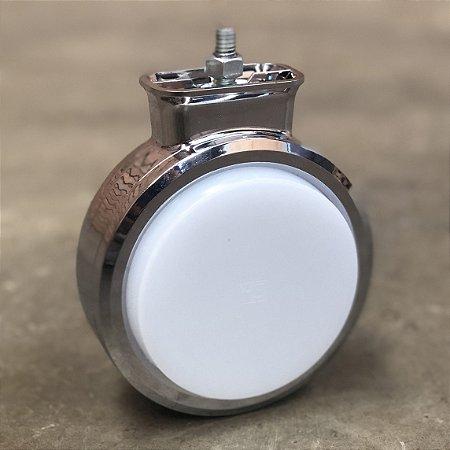 Foguinho Bojuda LED Cromado Branco