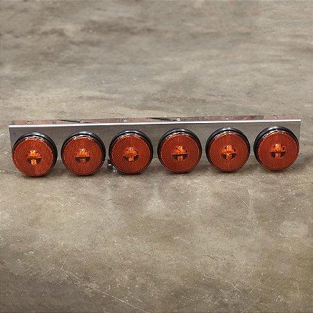 Lanterna 6 Marias Suporte Inox - LED Bivolt Ø85mm