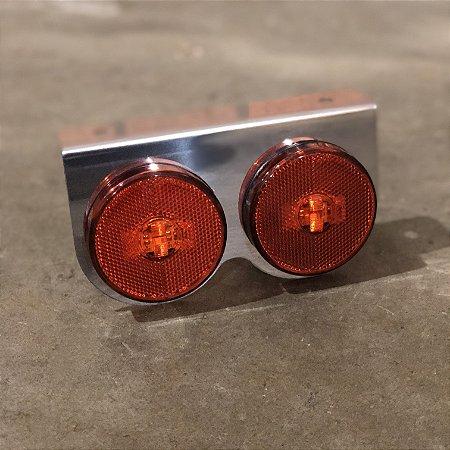 Lanterna 2 Marias Suporte Inox - LED Bivolt Ø65mm