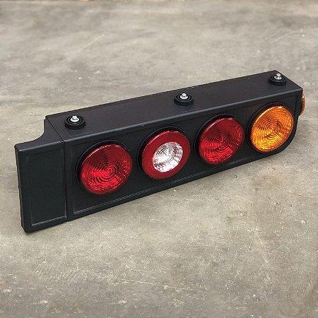 Lanterna Traseira Full LED Carreta Randon - Com Aba - Bivolt
