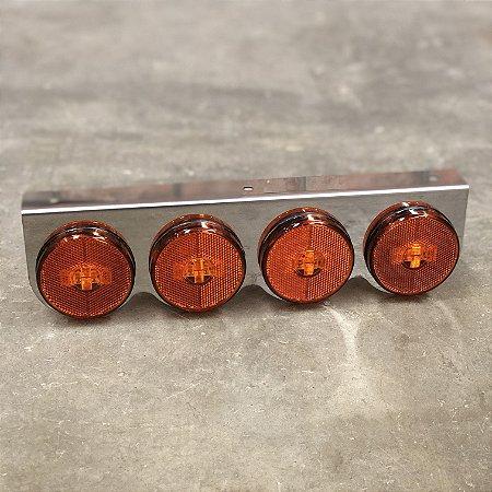 Lanterna 4 Marias Suporte Inox - LED Bivolt Ø65mm