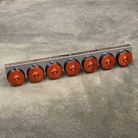 Lanterna 7 Marias Suporte Inox - LED Bivolt Ø85mm