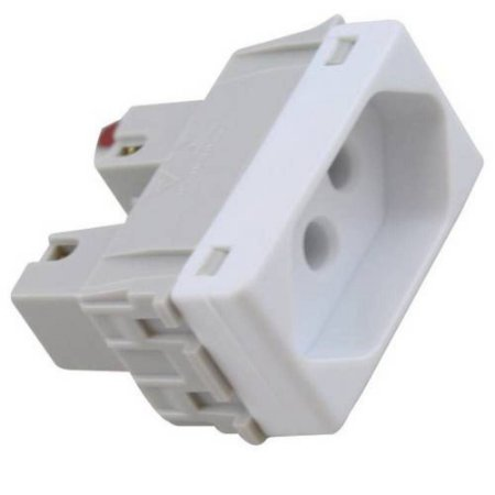Módulo Tomada 2P+T Tramontina 20 A 250 V Branco