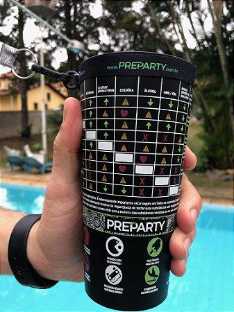 KIT PreParty com Copo + Porta Copo + Cordão + Vários itens