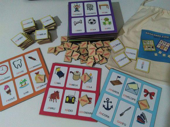 Brincando com os sons - Bingo sons iniciais (148 peças)