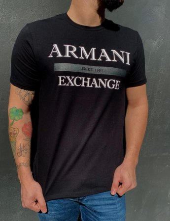 CAMISETA ARMANI EXCHANGE BLACK LETTERING