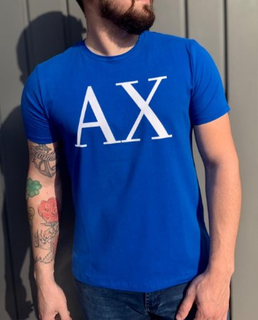 CAMISETA ARMANI EXCHANGE BLUE WITH LOGO