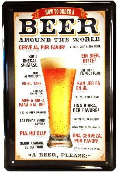 Cerveja Quadro Placa Metal