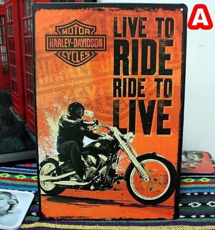 Harley Davidson Quadros Placa Metal