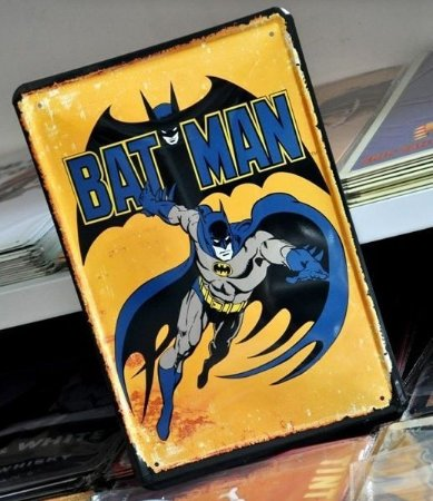 Batman Quadro Placa Metal