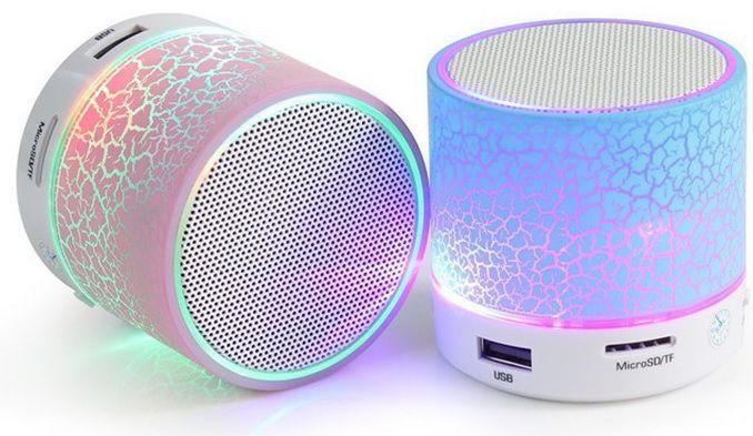 Caixa de Som Led Portátil Sem Fio Bluetooth
