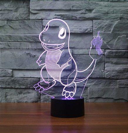Pokemon Luminária LED Holográfica