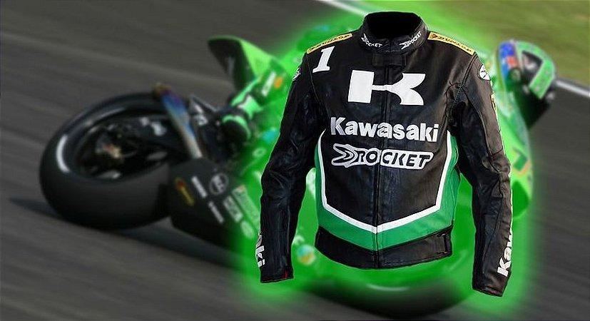 Kawasaki Jaqueta Couro