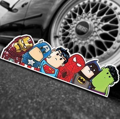 Adesivo Super Heróis