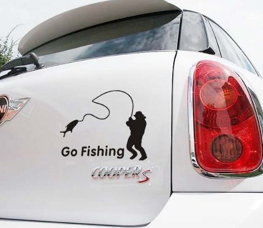 Adesivo Vá Pescar
