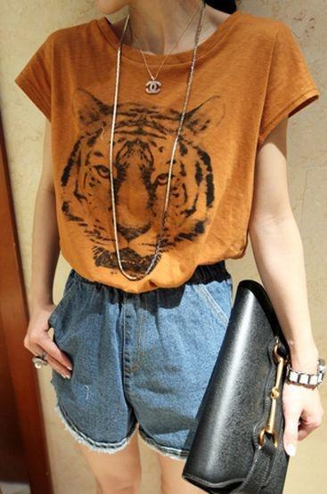 Camiseta estampa Animal Tigre