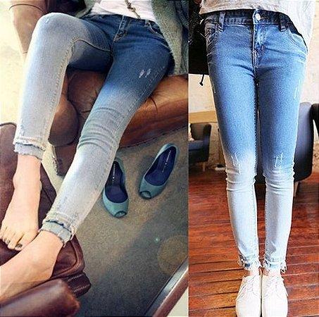 Calça Jeans Skinny Degradê