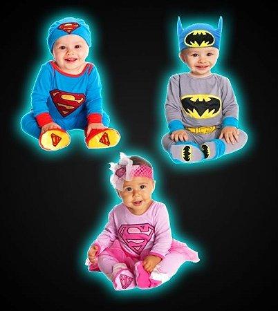 Conjunto Infantil Batman e Super-Homem