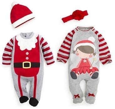 Conjunto Infantil Natal Papai Noel Mamãe Noel