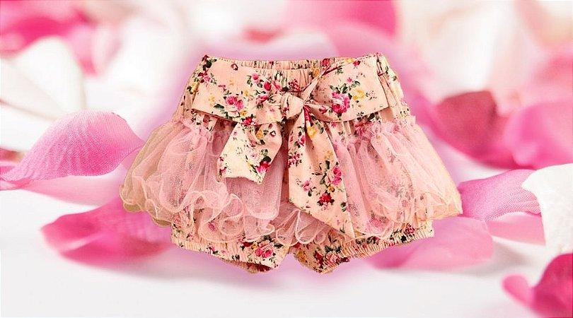 Shorts Floral - infantil